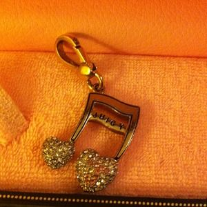 Juicy couture music 🎶charm gold