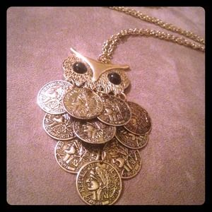 BUNDLEDVintage Owl Coin Necklace