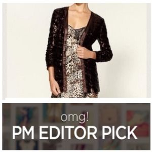  Racheal Zoe Brown Sequin Cardigan