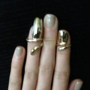 Bjules gold short nail ring
