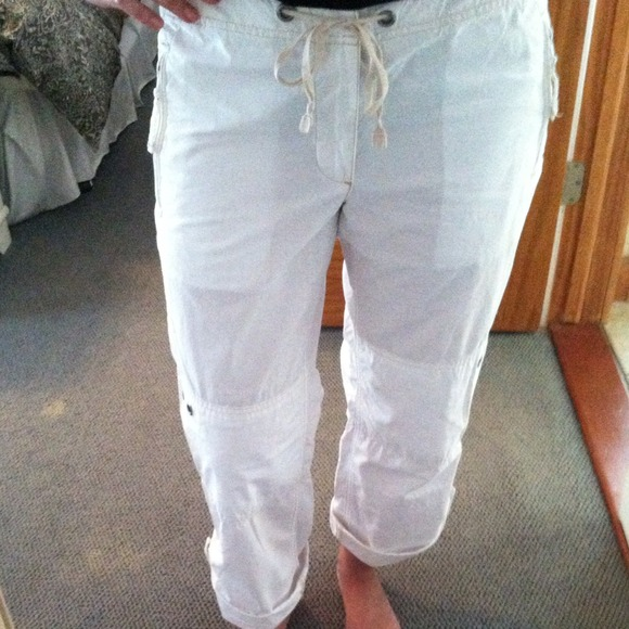 80% off GAP Pants - GAP white capri pants- light weight! from ...