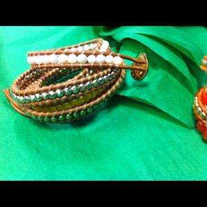 NEW Summer leather wrap bracelet