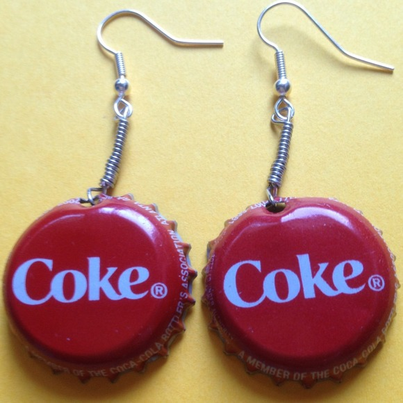 Coke Bottle Cap Earrings