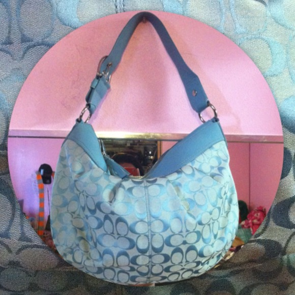 Coach Handbags - Baby Blue Coach Bag