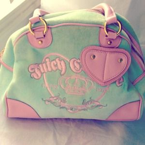 Juicy Couture Mint & Pink Bowler Bag