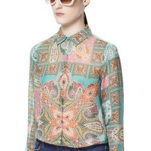 Zara paisley shirt