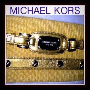 ✅ REDUCED -Authentic Michael Kors Gold Clutch