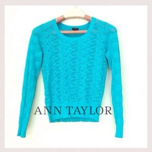 Ann Taylor Green Lightweight Sweater