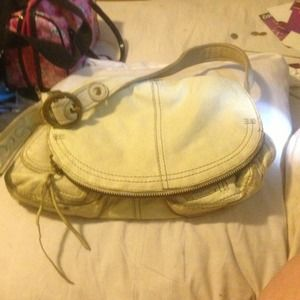 Lucky Brand off white leather purse