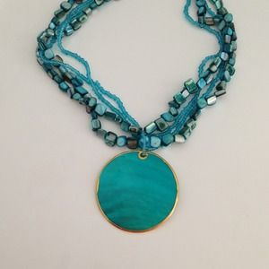 *RESERVED* Turquoise Statement Necklace