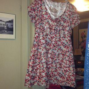 Tulle Dresses & Skirts - Tulle Flirty flower summer above knee dress L/XL