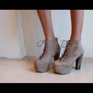 Jeffrey Campbell Taupe Suede Litas