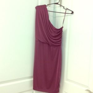 The Limited one shoulder purple dress