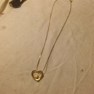Jewelry - Gold filled heart necklace with pearl