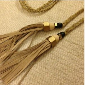 triplyksis Accessories - One-of-a-Kind Braided Leather Tassel Belt