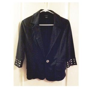 Black blazer with studded sleeves!