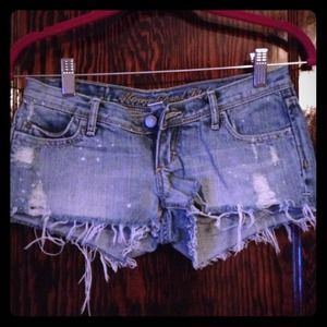 """Abercrombie & Fitch"" Distressed Denim Shorts"