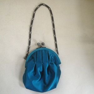 Moschino Blue Clutch NWT & Dust Cover