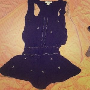 Other - Black sleeveless jumper with sequence details