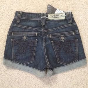 Taverniti So High-waisted Denim Shorts