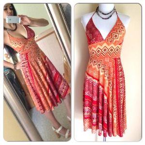 Dresses & Skirts - Burst of Color Halter Dress