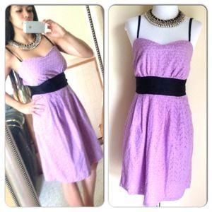 Dresses & Skirts - Purple Eyelet Dress