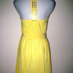 Yello Grecian dress M