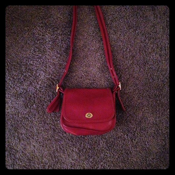 d70d5aeafa Coach Bags | Small Red Leather Purse | Poshmark
