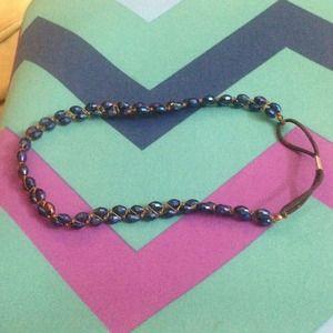 Accessories - Beaded blue headband