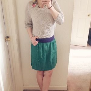 SALE! Cute green + navy skirt!