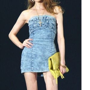 Dresses & Skirts - Denim body on dress