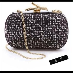 DVF Tweed Clutch