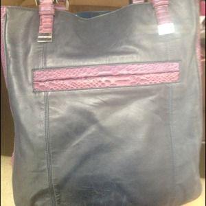 Juicy blue and purple snakeskin purse