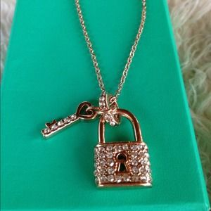 Dionne michelle jewelry swarovski crystal key lock 14k plated dionne michelle jewelry swarovski crystal key lock 14k plated necklace aloadofball Image collections