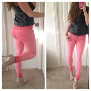 Bullhead Denim - Rose Ombré Dyed Skinniest Jeans