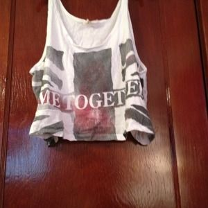 "Tops - NEW CROPED TANK says  ""COME TOGETHER"""