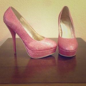 Pink Glitter Pumps Brand: Ollio