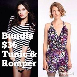 ✨Bundle request✨ Bebe tunic & URban Out. romper