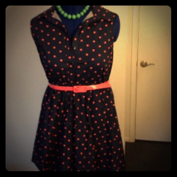 bailey blue - *Sold bundle*50s style pink & blue polka dot dress ...