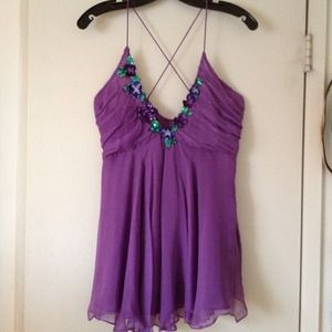 Purple Silk Chiffon Zara Top