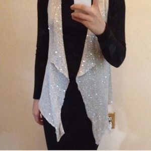 Very sparkly knit vest