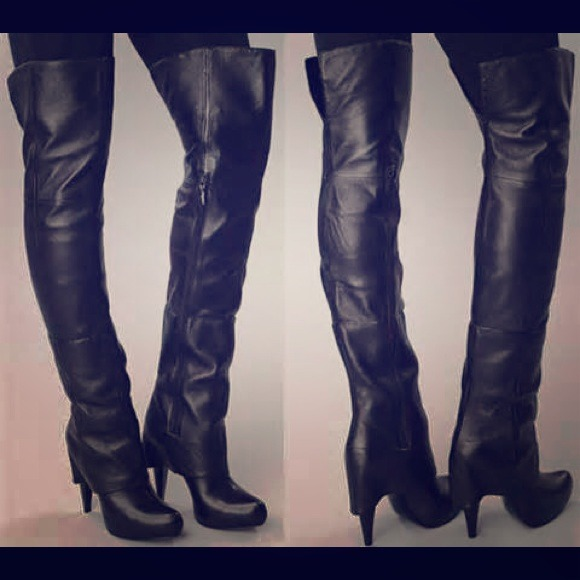 28% off Report Boots - Report signature Fitzgerald thigh high ...