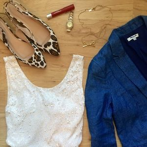 J. Crew Tops - J. Crew Heathered Sequin Tank