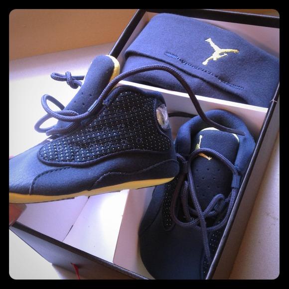 eb8bb98345b3cf Infant Jordan retro 13 crib sneaker
