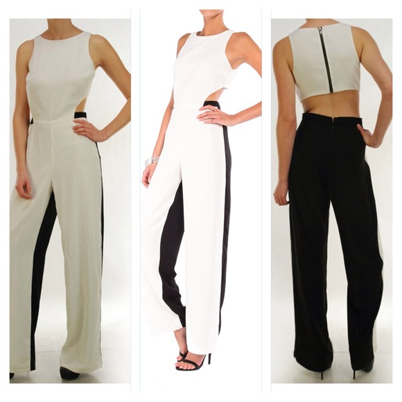 Black and white jumpsuit S from Aklassic's closet on Poshmark