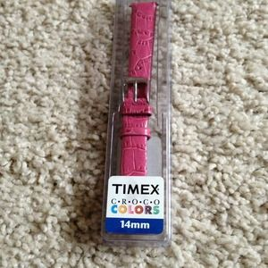 Bright pink leather watch band.  Brand new!!
