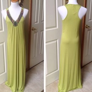 Lime Green Maxi Dress by Romeo & Juliet