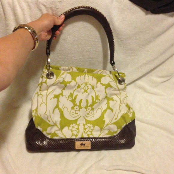 9869647fb6 Elaine Turner Bags | Sale 110 Chartreuse Brown Purse | Poshmark