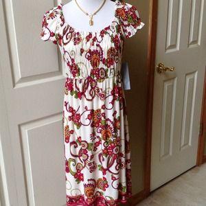 London Times Floral-Print Dress