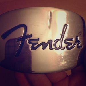 Fender belt buckle